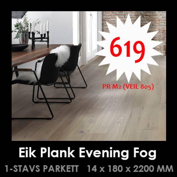 Graa Parkett Evening fog
